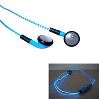 New EL LED Earphone In Ear Glow Headphone In-ear Growing Earphone Ecouteur Headset Auriculares for Mp3 Player