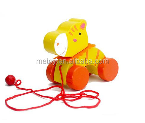 Creative pull line toy Hippo string wood toys of kids toys