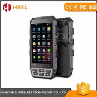 Factory directly selling wireless H951 5inch hanaheld rugged ip65 android 4.4.2 scanner barcode