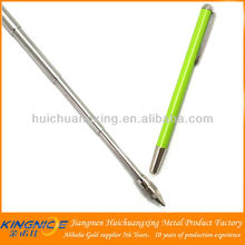 stainless steel telescopic pocket ballpoint pen