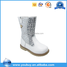 Guangzhou white leather over knee children boots wholesale