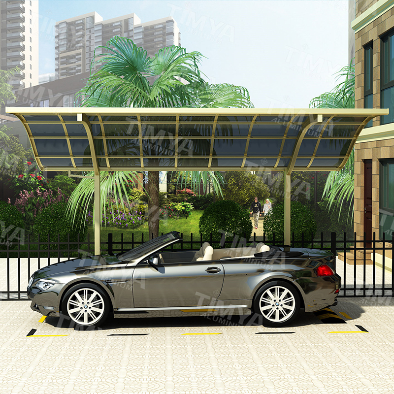 Aluminum and Panel Outdoor Car Parking Canopy Shed Carport Elegant and Luxury Style Customized DIY