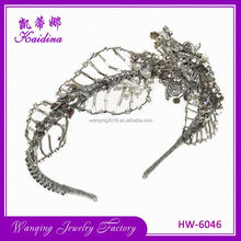 Newest selling elegant flower metal thin headband