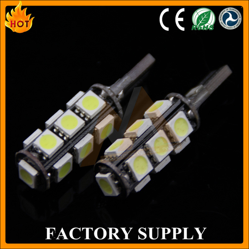Auto Green White T10 5050 13 SMD LED Car Lights 12V LED T10 Lamp