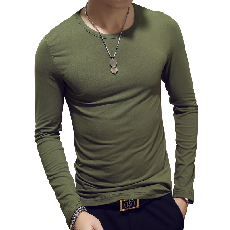 Hot Sale Long Sleeve Plain T Shirts Casual T Shirts Men Clothing 2019