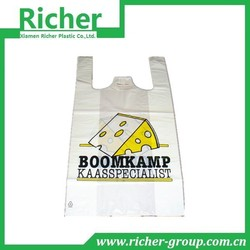 biodegradable LDPE custom printed plastic t shirt packing bags in Xiamen
