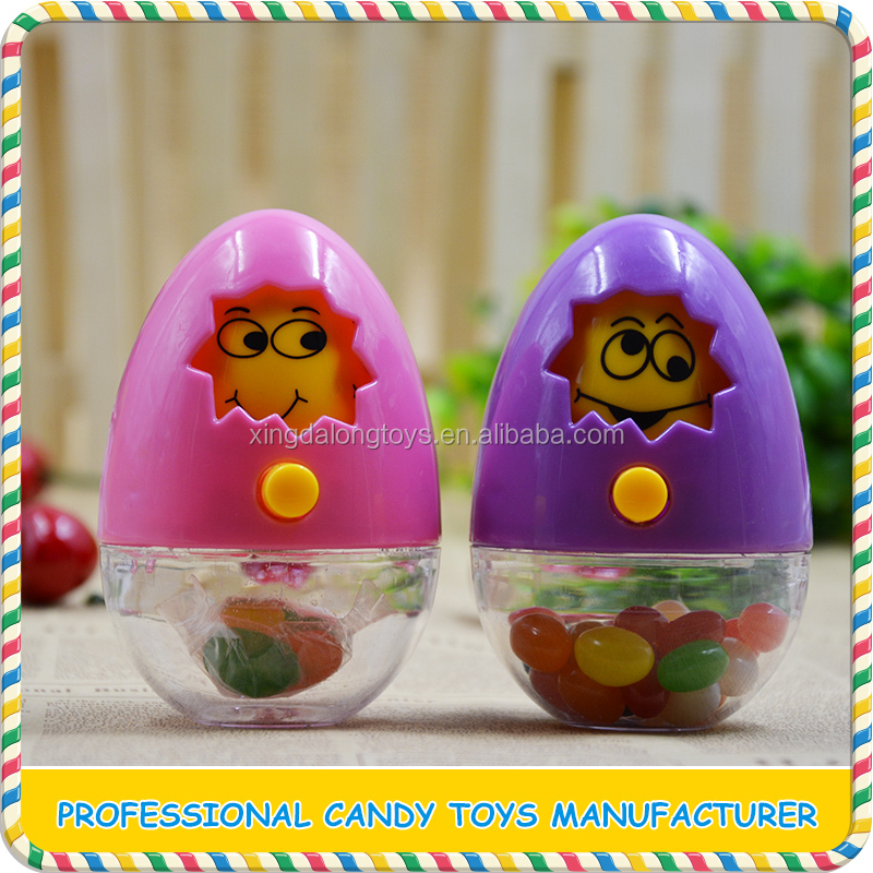 New design plastic changing face easter egg toy