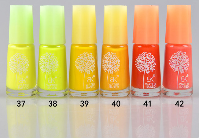 60 colors BK peel off water based nail polish