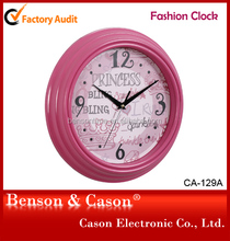 Cason classical dial customized pink cased clock