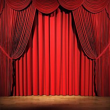 remote control motorized stage with curtains for theater drapes