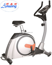 Fitness club exercise bike cardio equipment upright bike with 9kg magnetic flywheel and 15 adjustable resistance AMA-8728