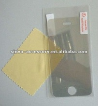 High transparency mirror screen protector for iPhone 5, with fingerprint proof (Front Skin Film Cover)