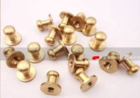 shiny Brass nippled shape nail for garment