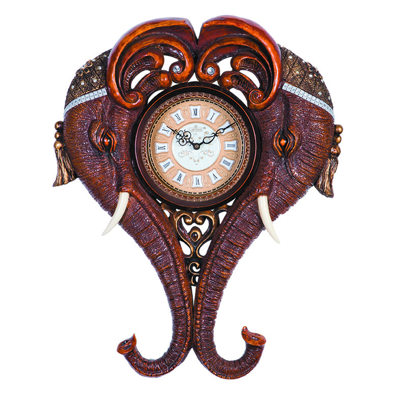 Classical elephant antique wall clock design H170M