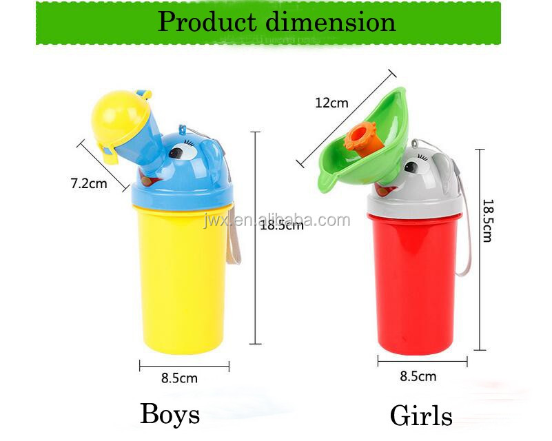 Portable plastic urinal for kids cute in design Alibaba wholesale