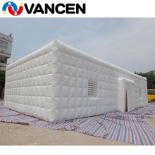 party use strong wind resistant sound insulation continous blow inflatable house tent with two blower for sale