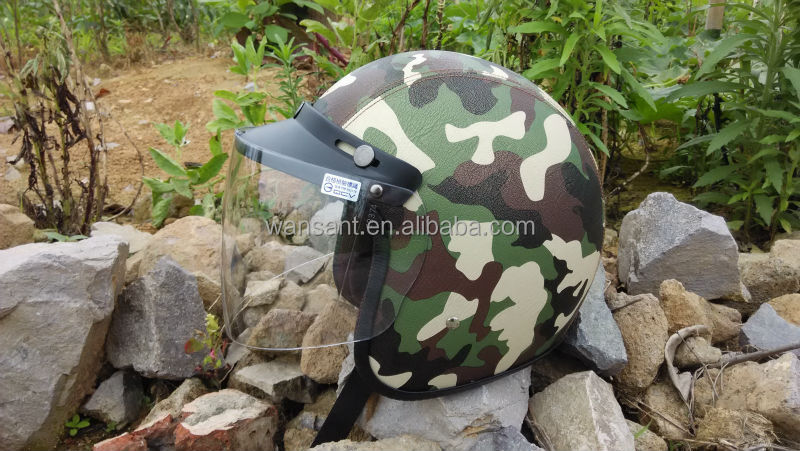 2017Top Sale Open Face Antique Military Helmets For Motor