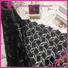 New Fashion Hot Dress Africa Black Sequin Velvet Lace Fabric For Dress