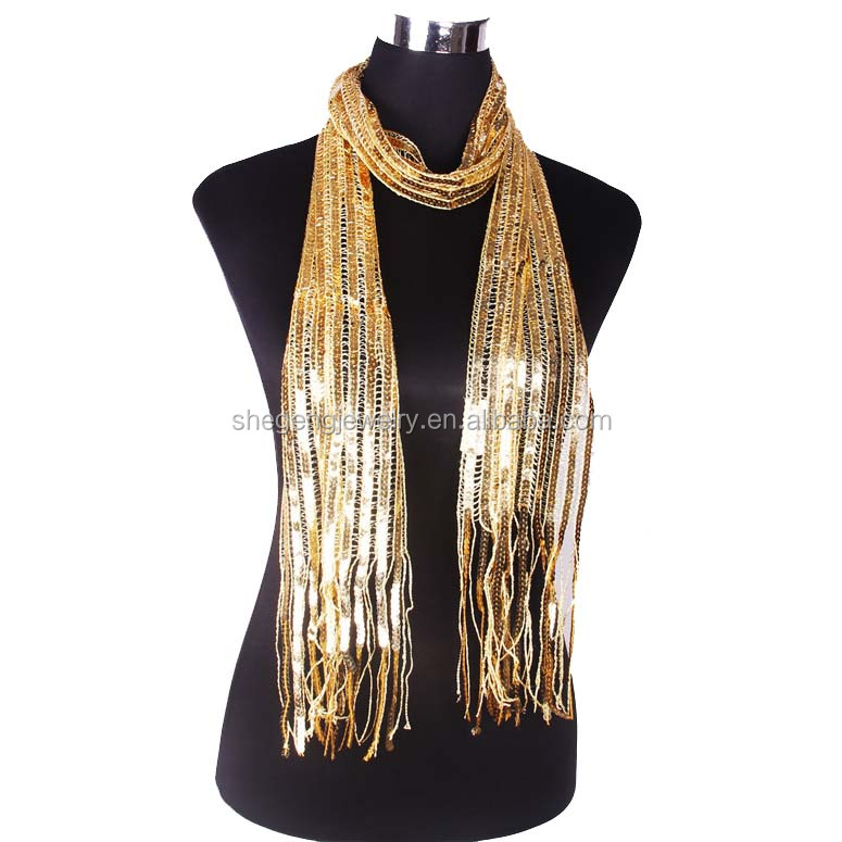 High Quality Warm Lady Fashion Women Scarf With Sequins