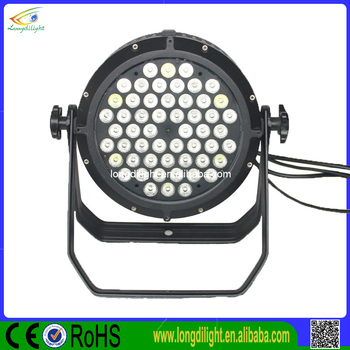 Waterproof led par 54*3w par can rgbw LED par 64 led lights/led par 54*3w rgbw outdoor lighting