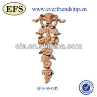 Cheap wholesale wood decorative furniture onlays appliques(EFS-M-002)