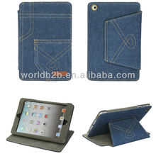 DENIM design Leather hard Case For New iPad Mini case