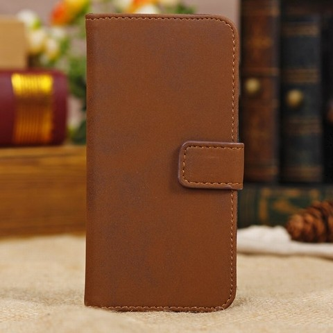 Luxury Retro Style Wallet Credit Card Flip Stand Leather Case Cover for iPhone 4 4s