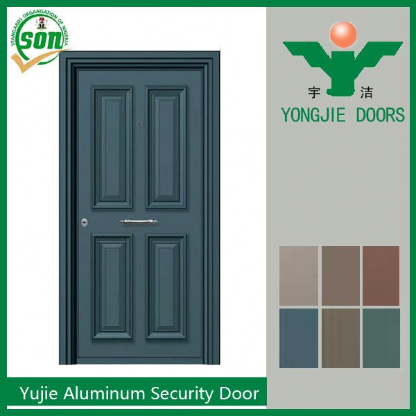 High Quality exterior Pressing aluminium security doors
