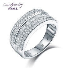 Avaliable Custom 4.81 Grams Solid 18K White Gold 1.021ct Natural Diamonds Jewelry Ring Making Supplies