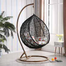modern cheap living room indoor indian adult outdoor jhula wrought iron back black rattan wicker patio swing