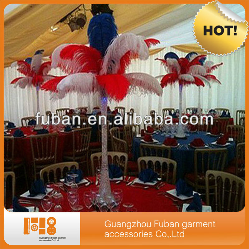fashion colorful wedding ostrich feather for wholesale china