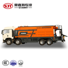 Diesel power source and intelligent fiber mirco-surfacing slurry sealing truck