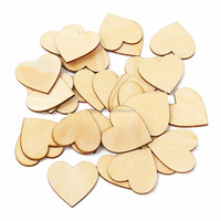 wood heart shaple art minds wholesale customized wood crafts