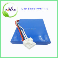 Factory directly supply 10ah 11.1v li-ion type battery pack