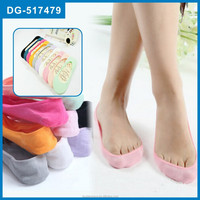 Spring-Summer Bamboo Fiber Invisible Silica Gel Slip-Resistant Ankle Cheap Sock Slippers For Women