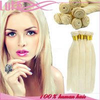 2016 New Arrival High Quality Blonde Hair Bundles, 613 Unprocessed Virgin Wholesale Price Blonde Russian Hair Extension