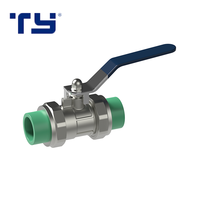 PP-R Brass Lockable Female PPR Double Union Brass Ball Valve