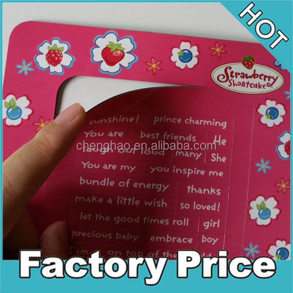 mini diy decorative refrigerator magnet picture frame with different words for decors