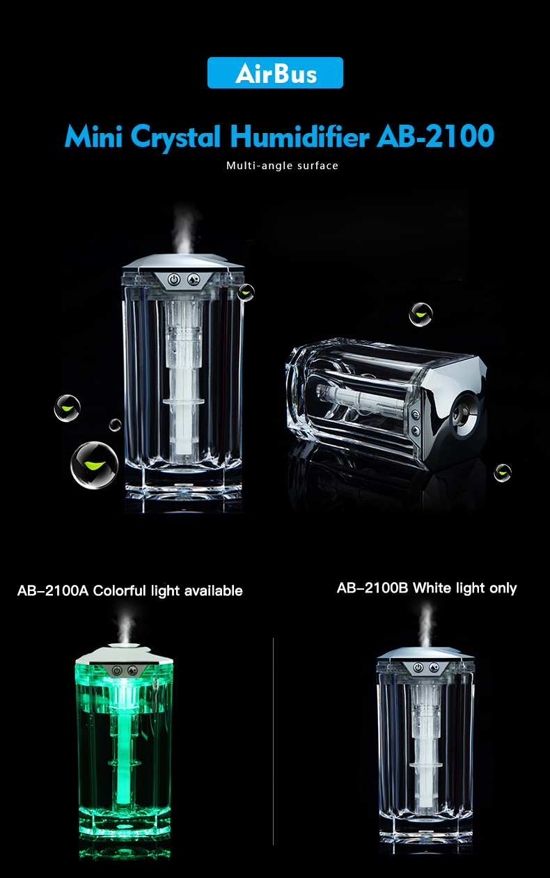 2018 New LED Multicolor Mini USB Air Humidifier For Car