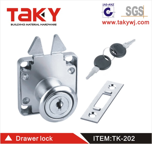 TK- 202 TAKY Lock Cabinet Drawer Lock with Key and Key Stamped MADE IN THE <strong>U</strong>.S.A.