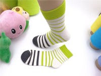 women middle tube thick cotton socks striped vivid colored socks