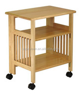 Foldable Kitchen food cart bamboo kitchen trolley dining cart