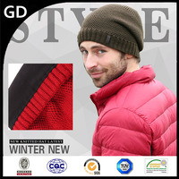 GDG1779 Male hat knitting thickness winter beanie 2016 crochet mens cap