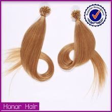 Amazing discounts! Soprano 8a double drawn U tip hair weaving remy russian blonde hair extensions