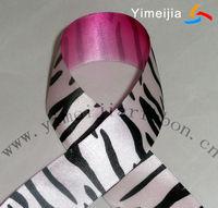 100% polyester zebra print satin ribbon