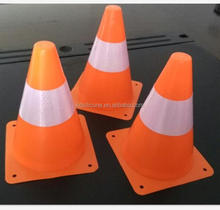 7inch Flexible Football Trainning Reflective Orange Traffic Cones