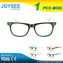 Wholesale Joysee Latest New Mode Style Cool Fashion Kids Children Rivet Acetate Optical Eyeglasses Frames For Girls And Boys