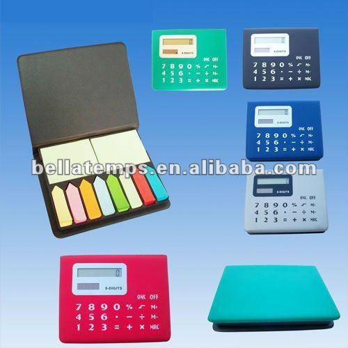 Solar pocket calculator with memo