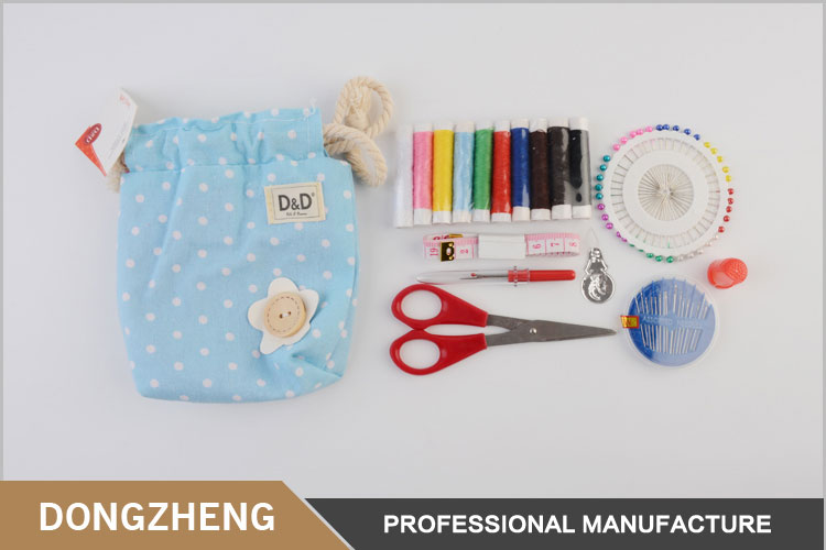 Mini household needlework accessories set bag sewing kit for kids