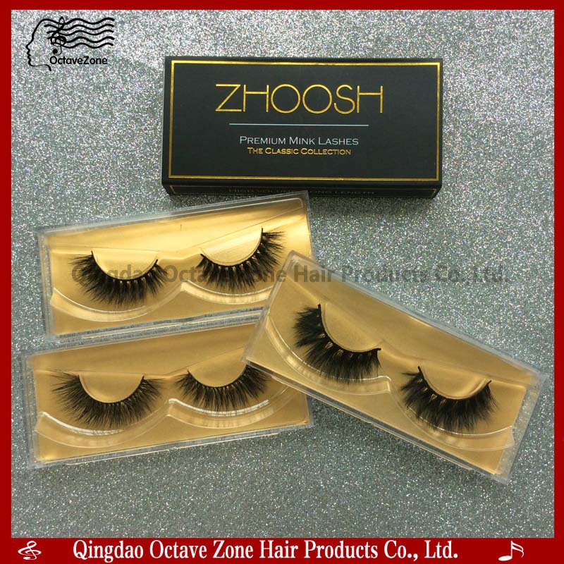High Quality Double Layer Thick Korean Silk Lash Faux Mink Strip Thick False Eyelashes